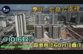 宏益公園裡_惠州 @1016蚊呎 香港高鐵60分鐘直達 香港銀行按揭(實景航拍)