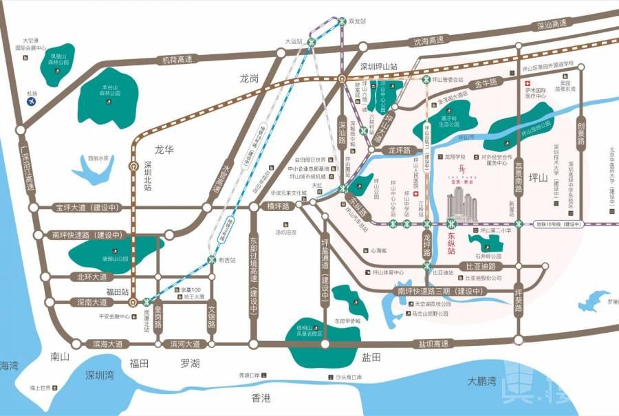深圳地鐵口精裝大三房 富潤樂庭