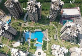 華府國際花園_珠海 0首期 即買即住 香港銀行按揭30年 (實景航拍)